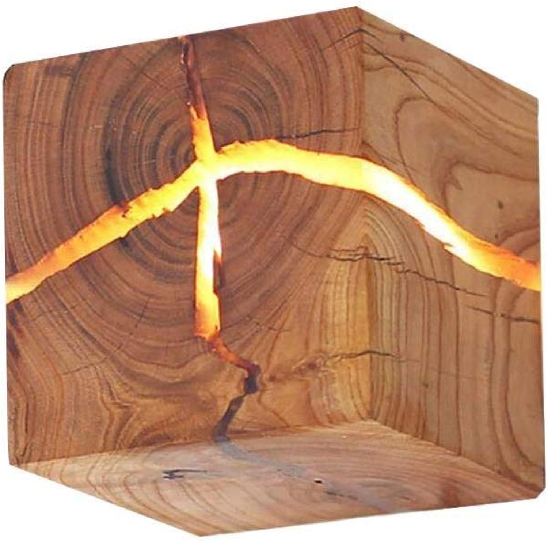 LED Wandleuchten Massivholz Wandleuchten Nacht Gang Dekoration Nachtlichter Holz Wandlampen