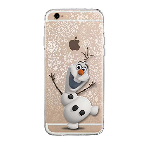 SLIDE 6 6S Cover TPU Gel Trasparente Morbida Custodia Protettiva, Cartoon, Special Collection, Frozen Olaf, iPhone 6 6S