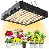 JUJ® 80 LED Grow Light 3000K 5000K 660Nm Luci Progressive a Spettro Completo per Piante da Interno 10 Livello di attenuazione e 4 Teste Lampada da Coltivazione con Timer