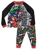 Marvel Pijamas de Manga Larga para niños Avengers Multicolor 12-13 Años