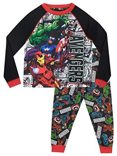 Marvel Pijamas de Manga Larga para niños Avengers 7-8 Años