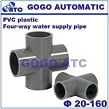 Fevas PVC Environmentally Friendly and Durable Four-Way Water Supply Pipe O.D 20-160 mm PVC Water Supply Pipe Fitting Flat Fork - (Color: PVC, Specification: 110mm)