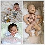 Binxing Toys 55CM Kits de muñecas Reborn Kits sin Pintar Silicona Baby DIY Molde muñecas Reborn para bebés niña / niño extremidades Completas + Cabeza + Cuerpo