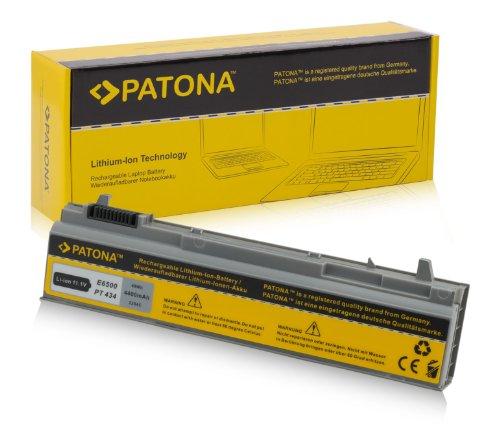 PATONA Batterie adapté pour Laptop/Notebook Dell Latitude E6400, E6400 ATG, E6400 XFR, E6410, E6410 ATG, E6500, E6510 - Precision M2400, M4400, M4500, M6400, M6500 Li-ION, 4400mAh, Noir