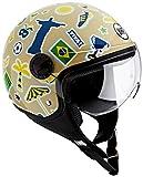 BHR 95634 Casco Moto Demi-Jet Linea One 801, Multicolore (Brasile A), L