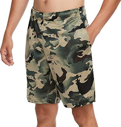 NIKE Dry 5.0 AOP Camo Pantalones Cortos, Sequoia/Negro, S para Hombre
