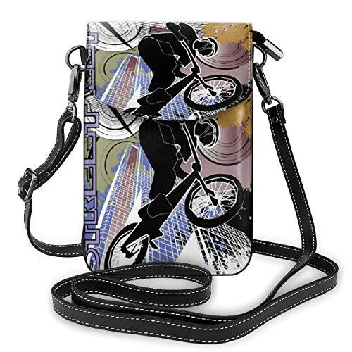 City Biker Kleine Umhängetasche, Handtasche aus PU-Leder, mit verstellbarem Riemen für den Alltag