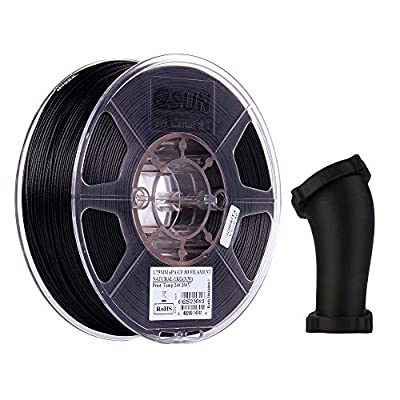 eSUN Carbon Fiber Filled Nylon Filament 1.75mm, PA-CF 3D Printer Filament, Dimensional Accuracy +/- 0.05mm, 1KG (2.2 LBS) Spool 3D Printing Filament for 3D Printers, Natural
