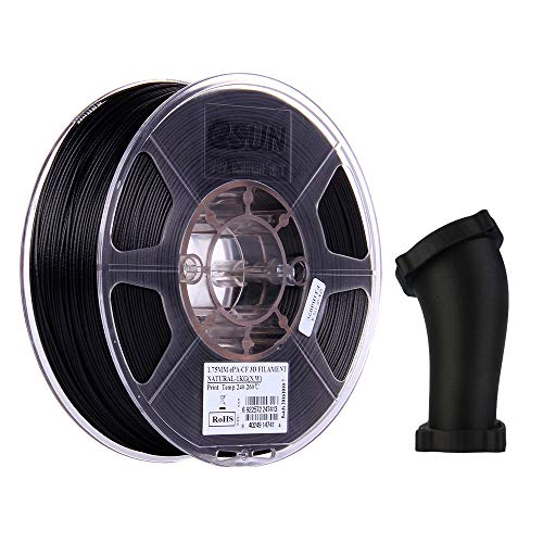 eSUN Fibre de Carbone Filament Nylon 1.75mm, Imprimante 3D Filament PA-CF, Précision Dimensionnelle +/- 0.05mm, 1KG (2.2 LBS) Bobine pour Imprimante 3D, Naturel