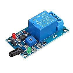 No-branded Module Flame Flare Detection Sensor Module 12V Infrared Receiver Module for A r -d u i n o Test Module YAGMGUS