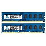 Motoeagle PC3-8500 DDR3 1066 MHz UDIMM (2x4GB), 2Rx8 PC3 8500U Desktop Memory 1.5V CL7 Dual Rank Upgrade Chips