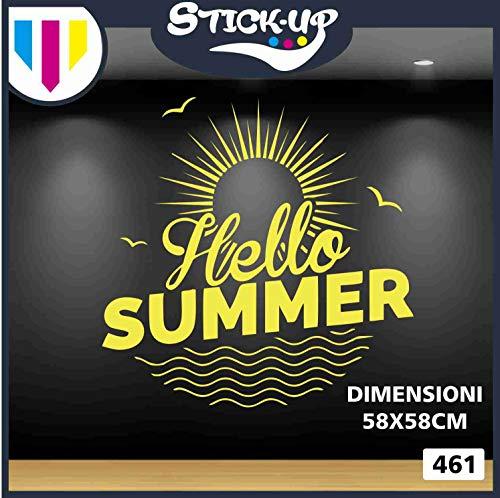 SALDI SALDI SCONTI - HELLO SUMMER - Streudeko - aussen alles - Schaufensterläden, Stickers