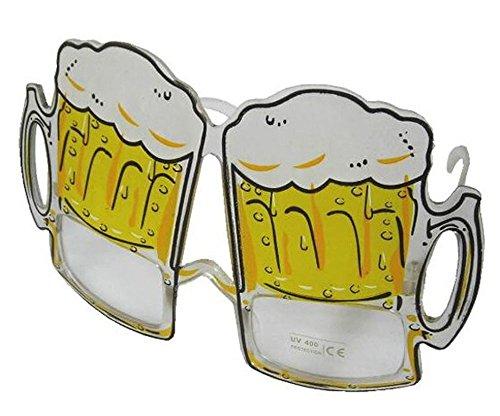1 Pair Tall Beer Drinking Mug Novelty Party Glasses - Costume Dressup Sunglasses for Men or Women
