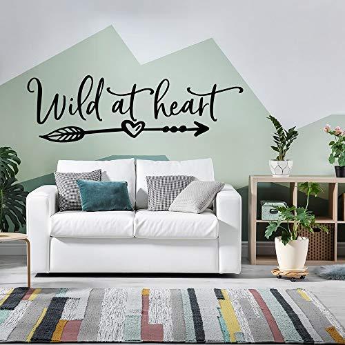 Adesivi murali cuore intagliato, adesivi murali artistici, adesivi murali moda moderna decorano la camera da letto del soggiorno mobile casa in stile nordico A1 57x17cm