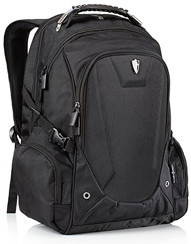 Victoriatourist V6012 Laptop Backpack College Bookbag Business Travel Bag Hiking Nylon Rucksack for Men Women Fits Macbook Pro / Most 16' Inch Laptops, Black