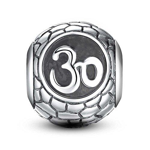 925 Sterling Silver Bead - 30th Birthday Celebration Charm Fit Pandora Charm Bracelet