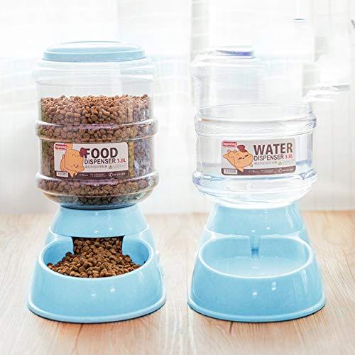 Lorenlli 1 PCS Pet 3.8L bebedero automático Teddy cat dispensador de agua almacenamiento barril de grano alimentador suministros para perros