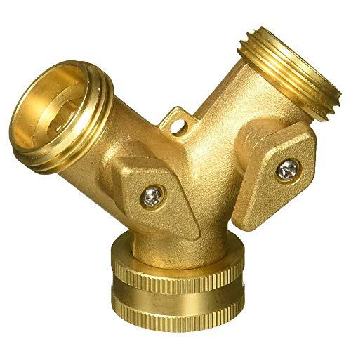 Buy Discount NINEFOX Hose Pipe Splitter Tap Watering Garden Connector Outdoor Irrigation Two Way Pra...