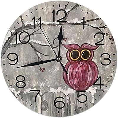 CUTLERY Horloge murale /Ø28 cm beige et marron