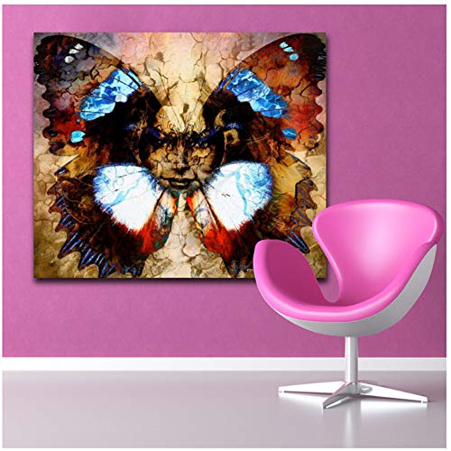 sjkkad Göttin Vrouw met Zier Mandala vogel tattoo canvas schilderij muurkunst 1 stuk foto's kamerdruk poster wooncultuur -60x80 cm geen lijst