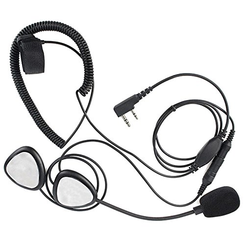 Fransande Upgrade Finger PTT Casco de Moto Headset Mic para TYT UV-5R H777 PUXING Walkie Talkie C2242A