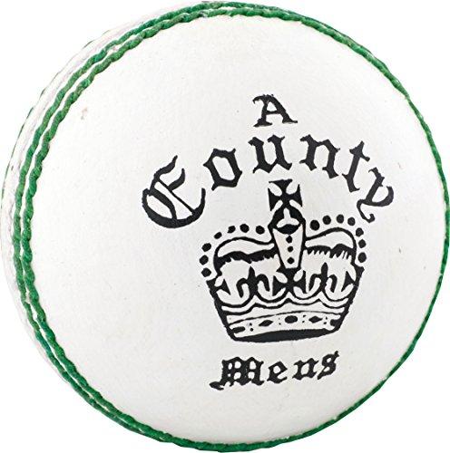 ONLY Readers County Crown Damen Herren Leder Cricket-Ball/5oz, weiß, Für Jugendliche