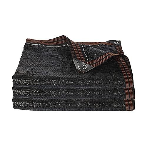 LLCY Negro 75% Sunblock Shade Cloth Net - Tarra de Malla de Sombra de jardín para Cubierta de Plantas, Invernadero, gallinero, Tomates, Plantas Malla de sombreo (Color : Black, Size : 5×8m)