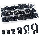 Pinces en plastique en nylon 200 pièces - Attaches pour conduits, câbles, gaines et gaines Ø 5/6/9/12/19 / 25mm