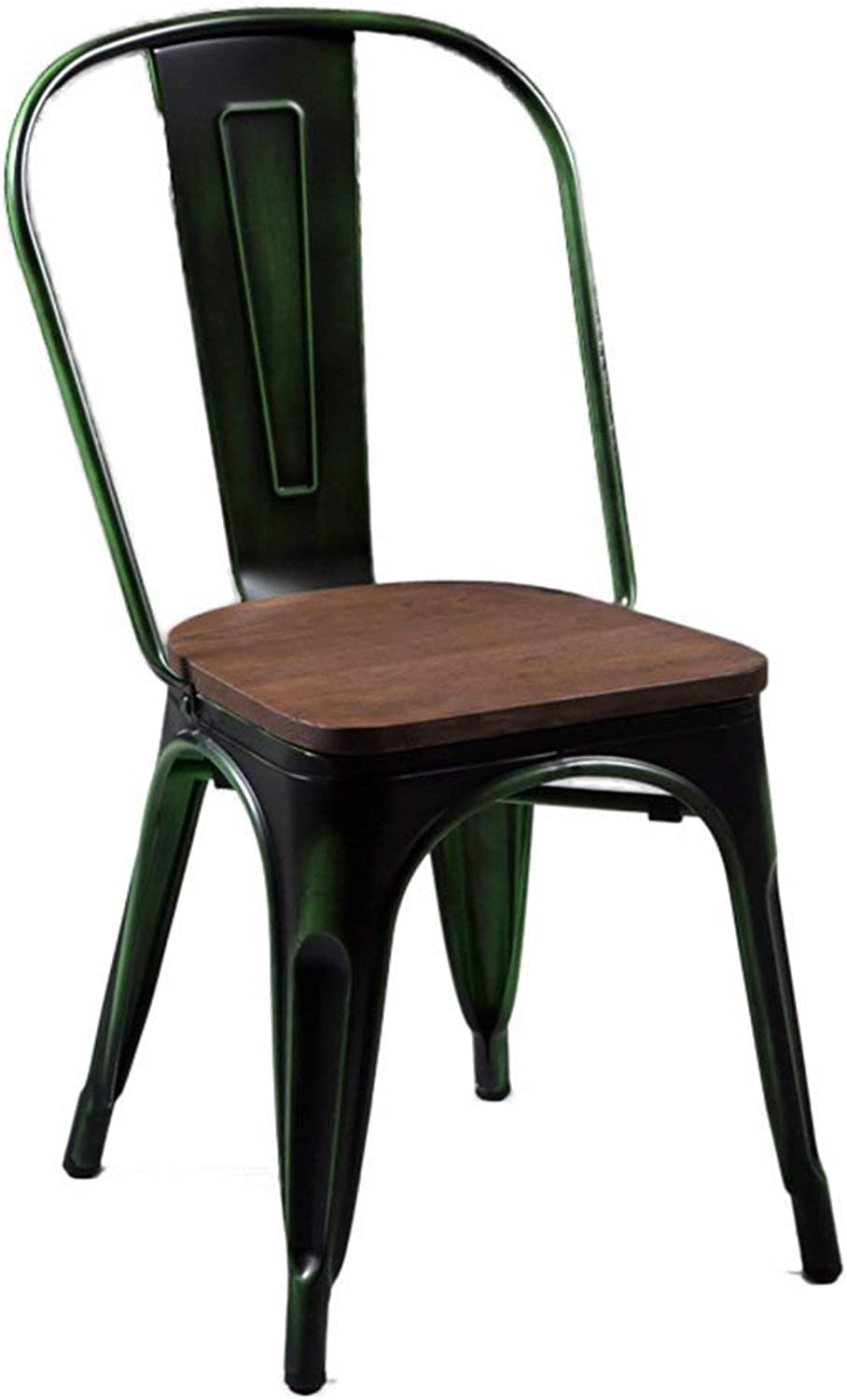 Retro Dining Chairs, Industry Metal Solid Wood Cafe Iron Chair Leisure Chair Restaurant Chairs Intentionally Old Bar Decorative Chair 44  47  85cm Various Styles (color   Colour  F)