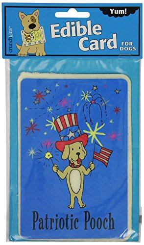 Crunchkins Comestible Crunch Carte, Patriotique Pooch