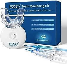 EZGO Teeth Whitening Kit with LED Light, Carbamide Peroxide Teeth Whitening Gel Pen&Remineralization Gel for Sensitive Teeth, Professional Teeth Whitener for Home Using, Teeth Bleaching Kit with Tray