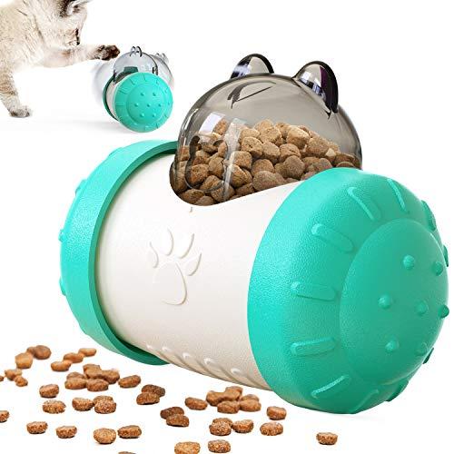 Interaktives Katzenspielzeug, 2 in 1 Katzenspielzeug Interaktive Schaukel Bär Design mit Schaukel Bär für langsame füttern gesund für Welpen und Katzen zum Spielen, Füttern, Trainieren, IQ-Training