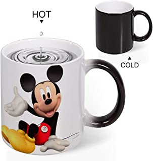 Color Changing Mug Heat Sensitive Coffee Mug Unique Ideal Gifts For Friend Kids Mom Dad-Mickey Mouse Cartoon