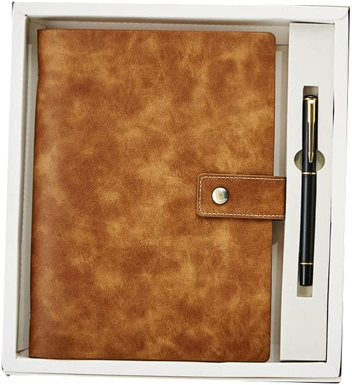 Leather Diary snap Notebook-A5 Grain 5.5X8.3 Horizontal In Selling Popularity