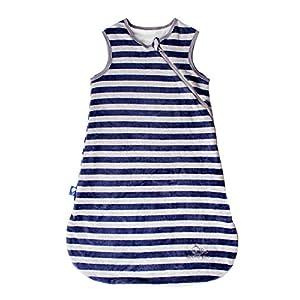 Saco de dormir para bebé a rayas Tog1.5 azul marino/M