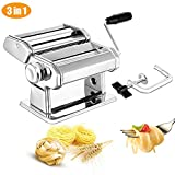 Pasta Maker, Elegant Life Sturdy Homemade 150mm Pasta Maker Machine All in one 7 Thickness Settings for Fresh Fettuccine Spaghetti Lasagne Dough Roller Press Cutter Noodle Making Machine