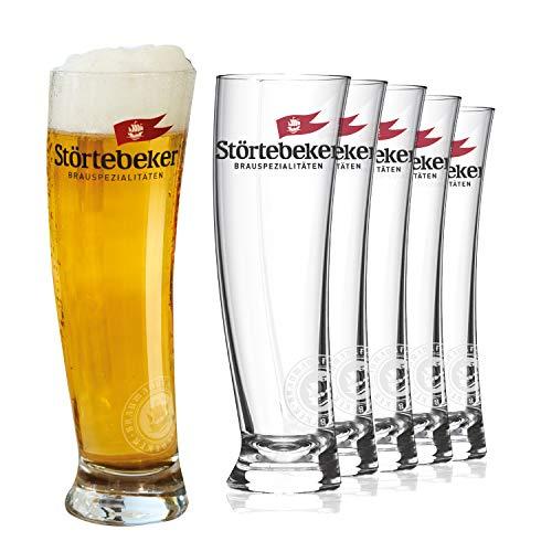 Störtebeker Vasos de cerveza de 0,3 l, 6 vasos de trigo en diseño de vela Sydney, vasos de cerveza de trigo de 0,3 l, vasos de cerveza molestos como regalo de cerveza