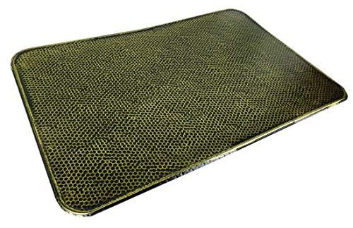 Novatool Ofenbodenblech I 500 x 800 I altmessing gehämmert I Funkenschutzplatte Kaminblech Ofenschutzblech Wärmeschutzplatte