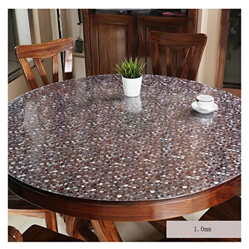 &Nappes Nappe ronde imperméable en PVC Nappe transparente en verre nappe de table (Couleur : D, taille : Round-135cm)