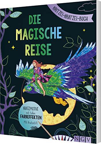 Die magische Reise - Kritzel-Kratzel-Buch: Kratzmotive mit tollen Farbeffekten. Mit Bambus-Stick