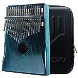 Moozica 17 touches Kalimba, Professionnel De Haute Qualité Doigt Pouce Piano Instrument de Musique Cadeau (Acajou Tone Bois-K17MBL)