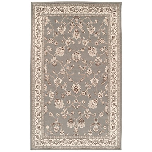Superior Elegant Kingfield Collection Area Rug, 8mm Pile Height with Jute Backing, Classic Bordered Rug Design, Anti-Static, Water-Repellent Rugs - Slate, 5' x 8' Rug
