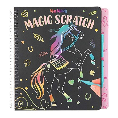 Depesche 11457 Kratzbuch Magic Scratch Book im Miss Melody Design, 20 Seiten mit zauberhaften Motiven, inklusive Kratz-Stift, ca. 19 x 20 x 2 cm groß