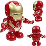 Toy Mall Avengers Action Figure Iron Man Dancing Iron Man with 3D Flashing Lights & Music Toys for Kids | Battery Operated (Dancing Iron Man)