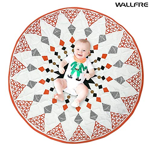 Check Out This Wallfire 90cm Tatted Cotton Kids Round Play Mat Nursery Rug Geometric Pattern Morocca...