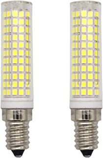 GRV E14 Base LED 7W Ceramic Light Bulb Dimmable 2835Smd-136Pcs Ac110V 90W 100W Incandescent Lamp Replacement Cool White Pack of 2