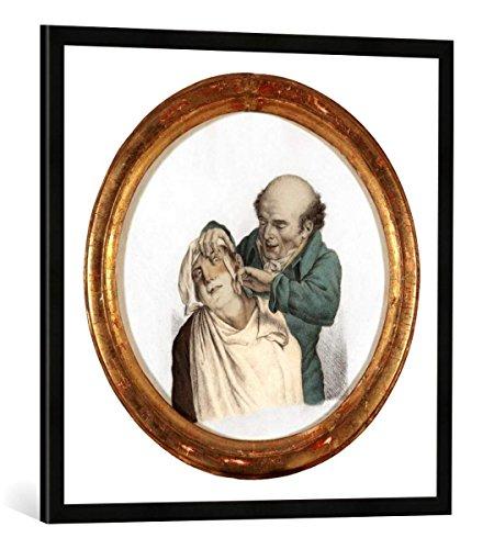 Gerahmtes Bild von Louis Leopold Boilly Skilful Barber, 1823