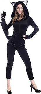 QAR Disfraz De Halloween Cosplay Sexy Black Cat Disfraz De One Piece Panda Animal Game Ropa de Mujer (Tamaño : L)