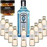 Gintonic - Gin Bombay Sapphire 40 ° + 9London Esencia 'Ginger Ale '- (70cl + 9 20cl *) + Pot 20 rebanadas de naranja seca.