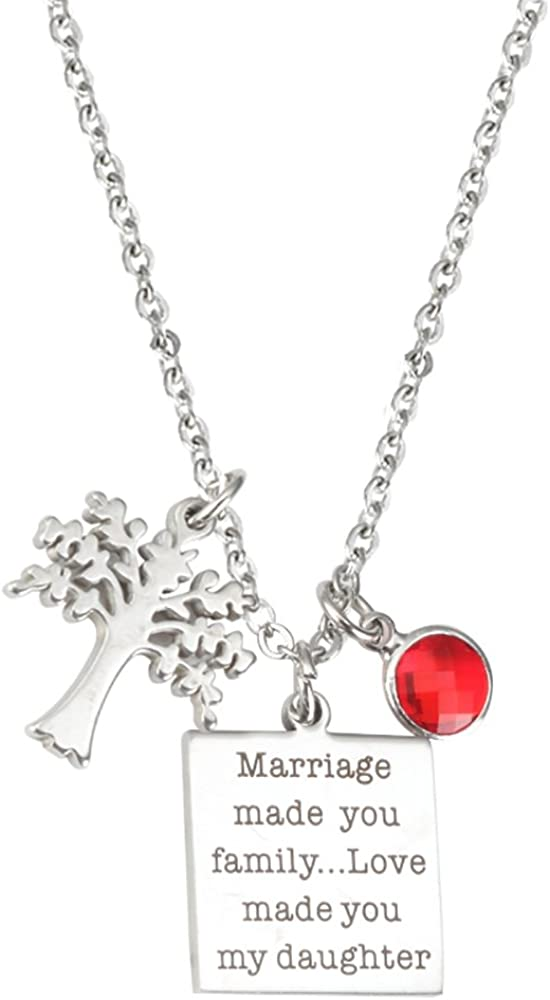 Stepdaughter Necklace Marriage Dealing full price reduction Made Family Love sale My You